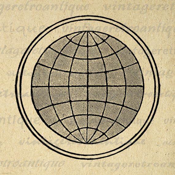 Printable Digital Globe Earth Graphic Map Download World