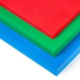 CAUCHO EVA INDUSTRIAL COLORES El caucho EVA industrial de colores viene en tres grosores: 10, 20 y 40 mm. Se utiliza para todo tipo de aplicaciones como la fabricación de suelas de zapatos, colchonetas, protectores de golpes o manualidades. #MWMaterialsWorld #cauchoEVAcolores #gomaEVAcolores #espumaEVAcolores #colouredEVArubber #colouredEVAfoam