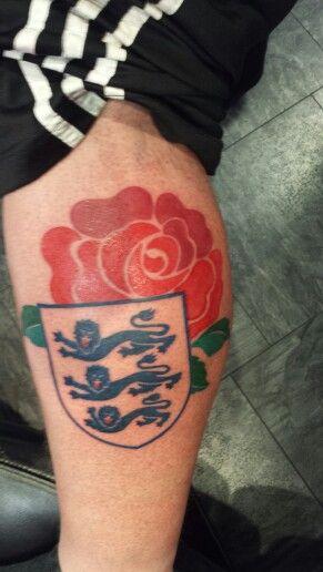 England 3 Lions Red Rose Of England Tattoo Tattoos