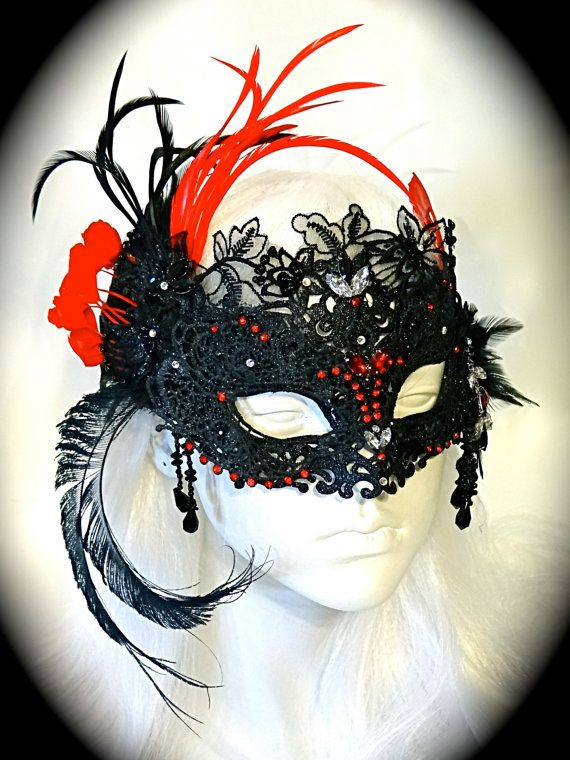 Black Phoenix Mask Masquerade Ball Masks by Marcellefinery on Etsy