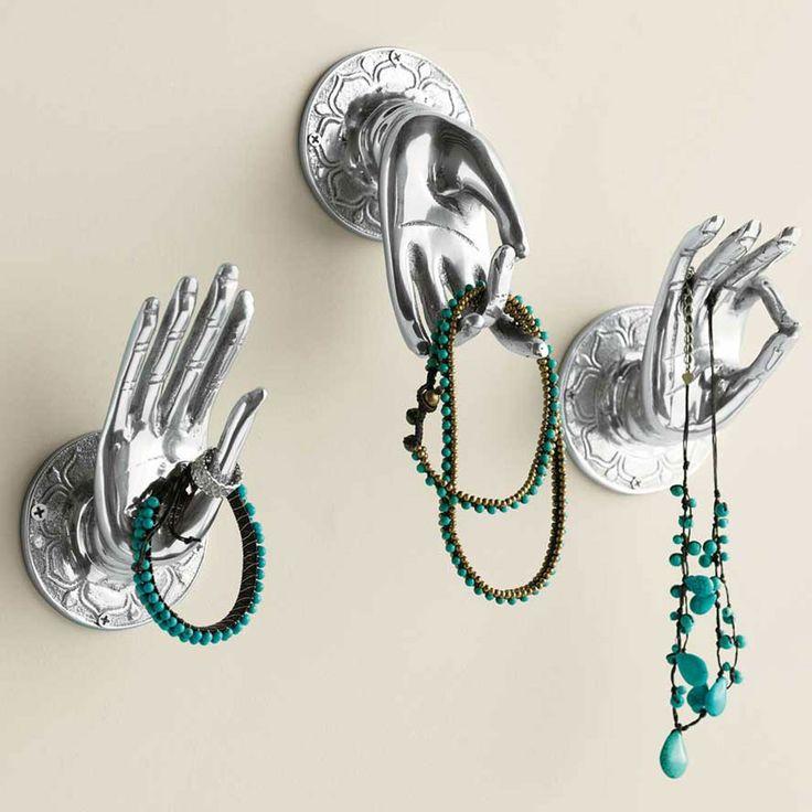 Hands Of Buddha Wall Hooks Set Of 3 Hooks Hands And