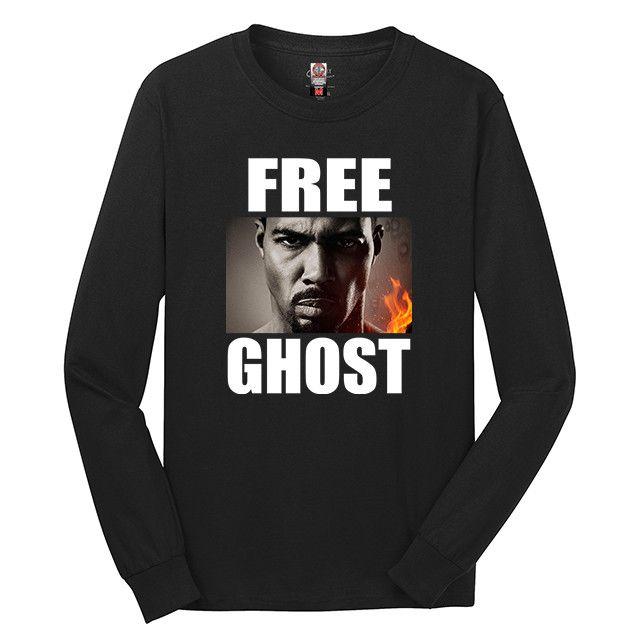 Free Ghost Long Sleeve T-Shirt James St. Patrick Power TV Show Shirt