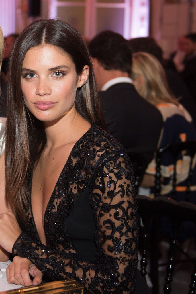 Sara Sampaio At The Amfar Dinner In Paris France On July