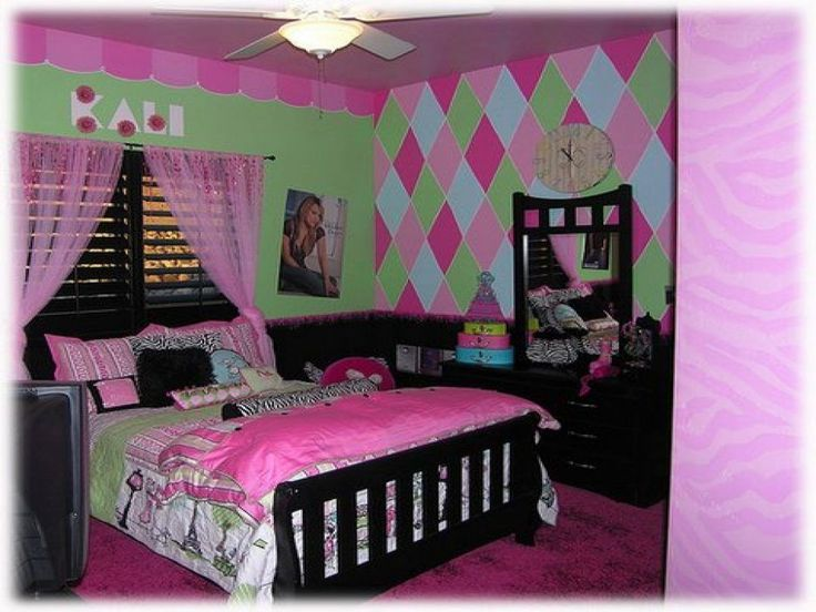 Interior. Simple Design Little Girls Room Ideas With Black Wooden Bed Frames And Patchwork Pattern Covered Bedding Sheets Also Pillows And Black Wooden Dressing Table Also Jelousie Windows With Pink Curtains With Teenage Girl Bedroom Designs  Plus Bedroom Girl. Agreeable Ideas Of Little Girls Rooms Decorations