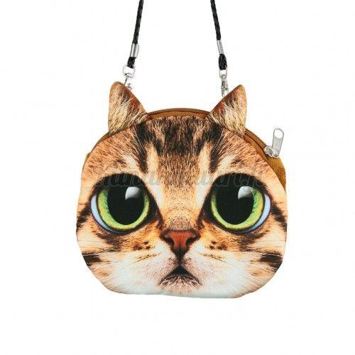Kissa laukku, ruskea