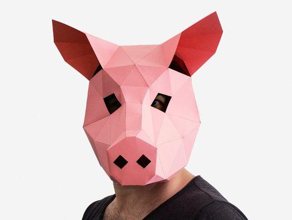 Pig Mask https://www.etsy.com/listing/248808440/make-your-own-pig-mask-animal-head?ref=shop_home_active_19
