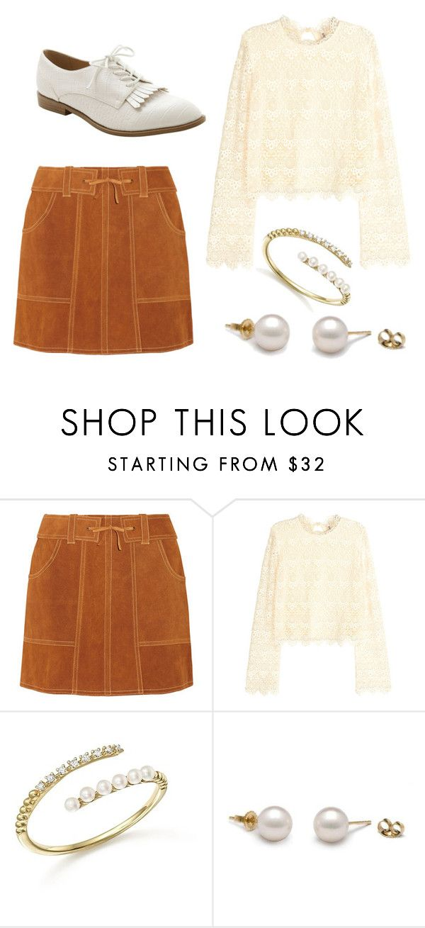 """""""Pretty Fall Outfit"""" by elisel1997 ❤ liked on Polyvore featuring Anna Sui, H&M, Meira T and Kensie"""