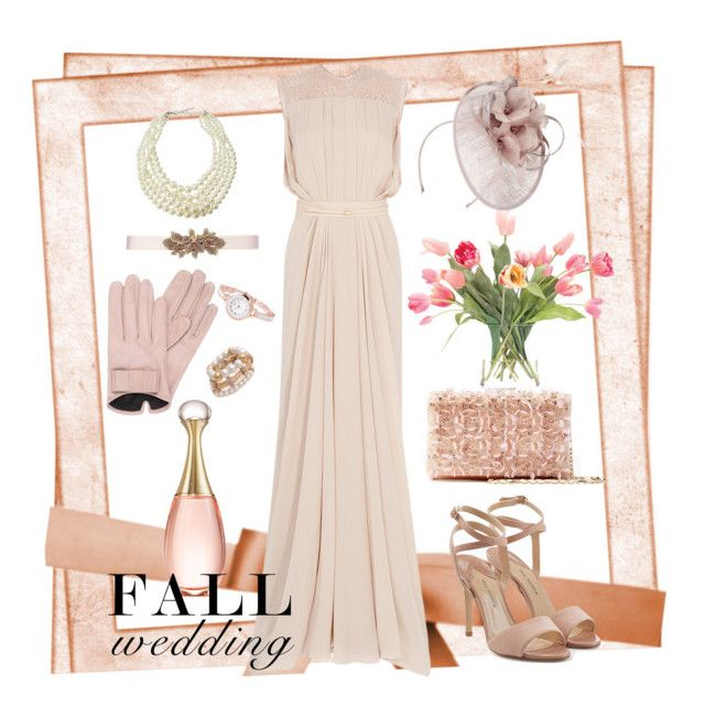 """fall wedding2"" by couturetycoon on Polyvore featuring Oscar de la Renta, Emily & Ashley, NDI, Jacques Vert, Mario Portolano, Paul Andrew, Christian Dior and fallwedding"