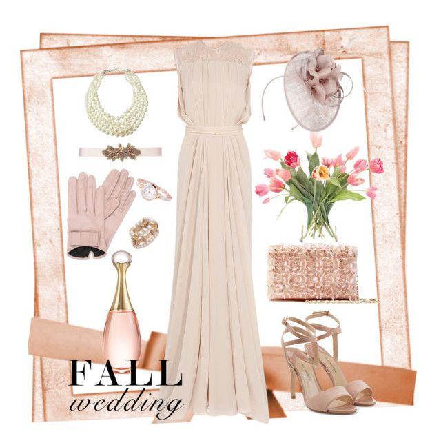 """fall wedding2"" by couturetycoon on Polyvore featuring Oscar de la Renta, Emily & Ashley, NDI, Jacques Vert, Mario Portolano, Paul Andrew, Christian Dior and fallwedding"