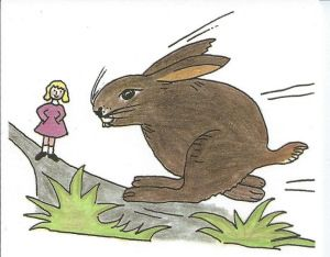 Sehen, wie der Hase läuft - German proverb (for English translation and more proverbs see link)