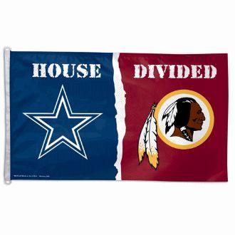 Cowboys vs. Redskins House Divided Flag