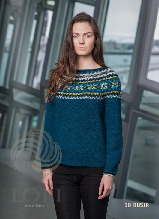 - Icelandic Rósir Women Wool Sweater - Tailor Made - Nordic Store Icelandic Wool Sweaters  - 1