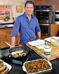 Bobby Flay is the owner and executive chef of eight restaurants and has appeared on 8 different cooking television shows.  Flay has also competed on Iron Chef.