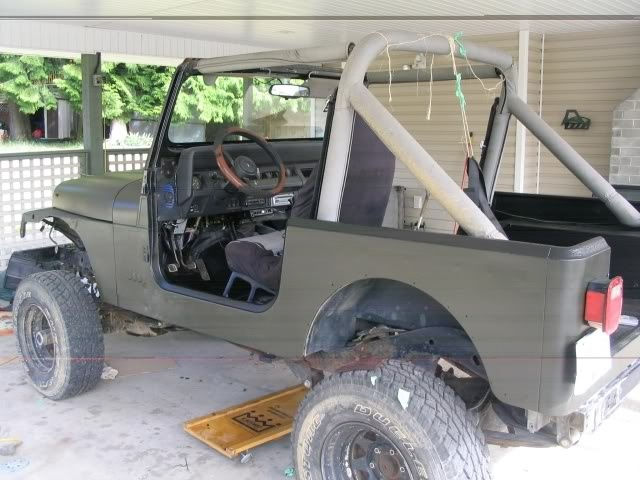 Rustoleum Olive Drab Painting Car