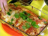 Chicken Enchiladas...made these last night sooooo good!!! (added serrano peppers and hot