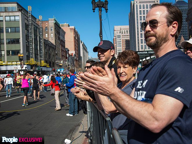 The Wahlberg Family's Boston Marathon Photo Diary  #BostonStrong! Donnie leads the clan as they cheer on brother Jim at Monday's race