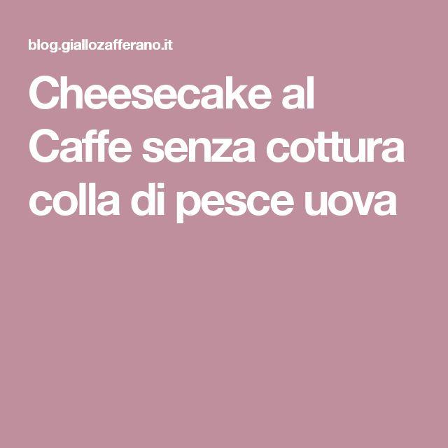 Cheesecake al Caffe senza cottura colla di pesce uova
