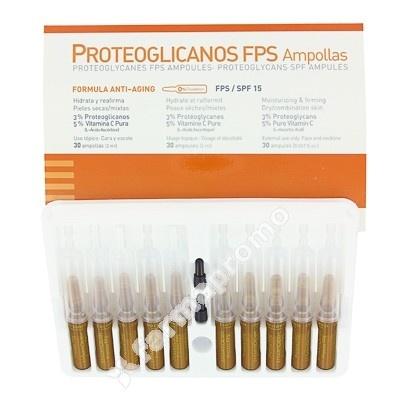 MARTIDERM PROTEOGLICANOS FPS 30 Ampollas     Martiderm Proteoglicanos FPS 30 ampollas es un producto de cosmética facial que proporciona una correción paulatina de las arrugas gracias al poder reparador del proteoglicano. Y previene contra la formación de nuevas arrugas, gracias al poder antioxidante de la vitamina C pura.
