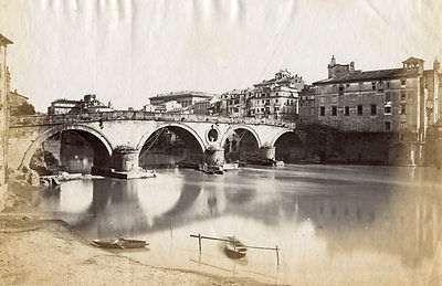 1865 circa autore non identificato . Ponte Sisto .