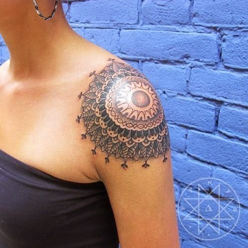 lace shoulder tattoo - Google Search