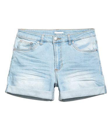 Denim Shorts | Light denim blue | Ladies | H&M US