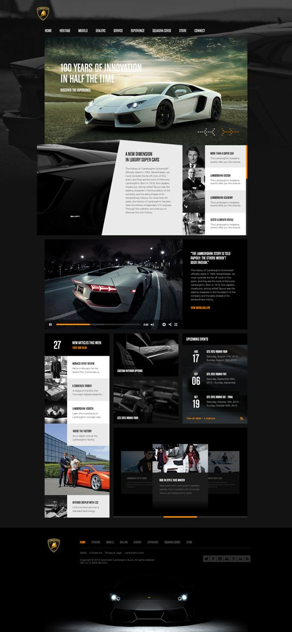 Cool Automotive Web Design on the Internet. Lamborghini. #automotive #webdesign @ http://www.pinterest.com/alfredchong/automotive-web-design/