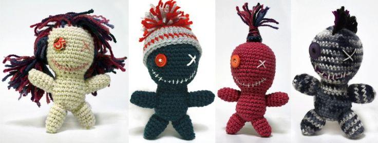 Amigurumi Voodoopuppe - mit vielen Tipps und Tricks zum variieren /// Amigurumi Voodoopuppet - with many tips and tricks to vary. #crochet #Voodoo #selfmade #selbermachen #häkeln #diyblog