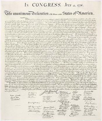 Az Egyesült Államok függetlenségi nyilatkozata – Wikipédia