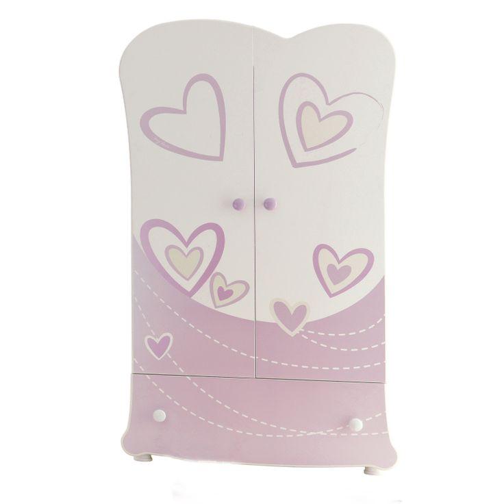 Good Kleiderschrank f r Kinderzimmer in Pink mit Herzmotiven