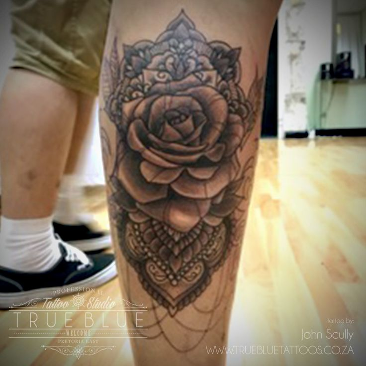 """""""Rosy Lace""""by John Scully of True Blue Professional Tattoo Studio"""