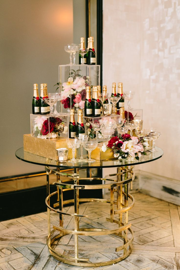 A glam 30th birthday! | Read More on SMP: http://www.stylemepretty.com/living/2016/02/22/moet-macarons-and-glamour-a-30th-birthday-done-right/