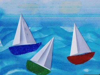 Orgami Sailboats:  Purjevene 2
