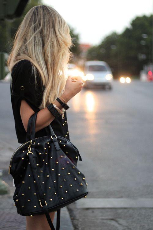 studded bag.