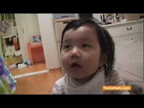 "Here's another video featuring Yerin Park (the South Korean baby girl I'd referred to in another pin). She's so cute here running around and trying to talk to her dad (""appa"" is ""Dad"" in Korean, apparently). The ending is particularly adorable, when the video gets sped up to show just how many times she does this."