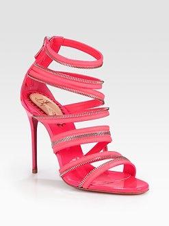 Christian Louboutin - Unzip Patent Leather Sandals: Patent Leather, Louboutin Unzipped, Unzipped Patent, Shoes Addict, Leather Sandals, Christian Louboutin, Sak Fifth Avenue, Sak Com, Shoes Shoes