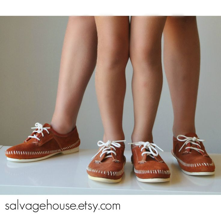 1970s Taos Moccasins for Kids~Kids Size 2 or 4 by salvagehouse on Etsy