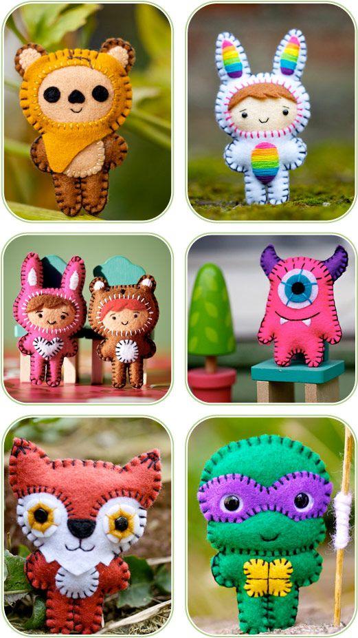 Handmade Softies by Nuff Nuff Toys - Bunnies, Foxes, Ewoks, Monsters, Ninja Turtles... | KID independent – handmade for kids