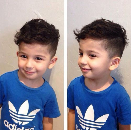 short sides long top haircut for little boys