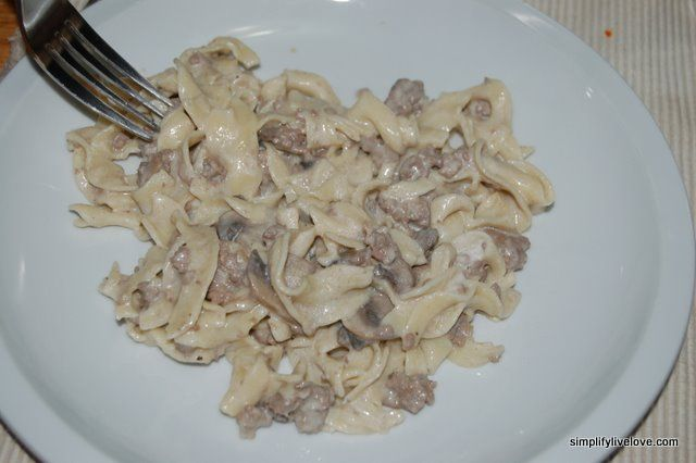 Ground Beef Stroganoff ~ Simplify, Live, Love ~ Great for the freezer too!