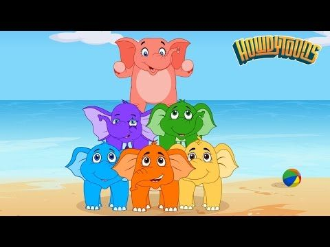 Elephants Have Wrinkles by Rock'n'Rainbow - Music for Kids by Howdytoons - YouTube