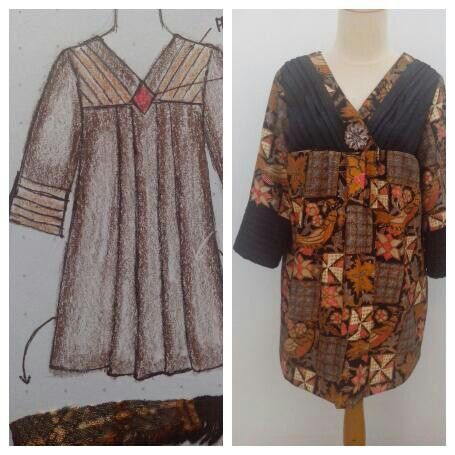 Batik blouse, customer order.