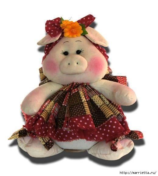 Текстильная ХРЮШКА. Выкройка    Буренки в цветочках. Выкройка    Ляльки с сосками из фетра. Выкройка     источник
