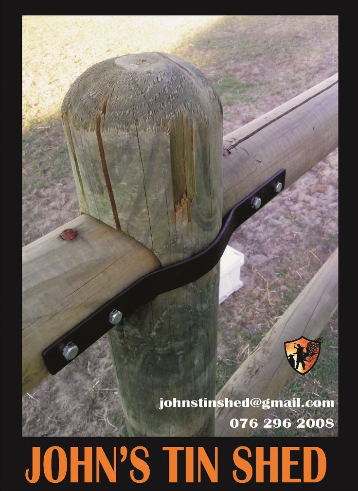 Fencing wooden pole brackets