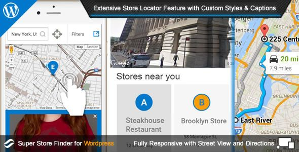 Super Store Finder for Wordpress by highwarden Super Store Finder for WordpressSuper Store Finder for WordPress is a fully-featured WordPress Plugin integrated with Google Maps API v3 that allows customers to locate your stores easily. Tailor-made with intuitive responsive de
