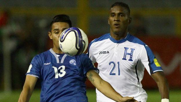Honduras y El Salvador empataron 2-2 por Eliminatorias 2018 de Concacaf. March 26, 2016.