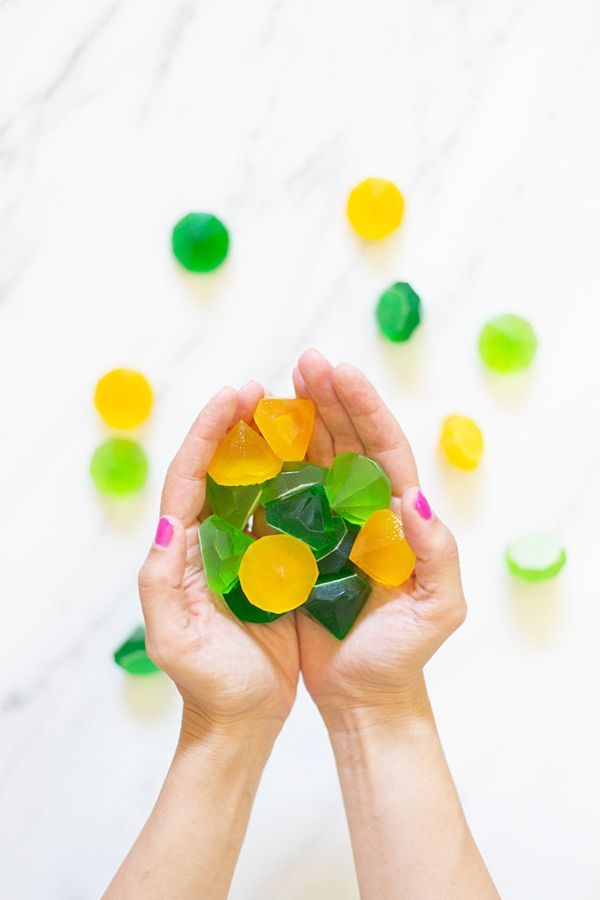 DIY gemstone gummies    Photo and project by Lovely Indeed for Swooned