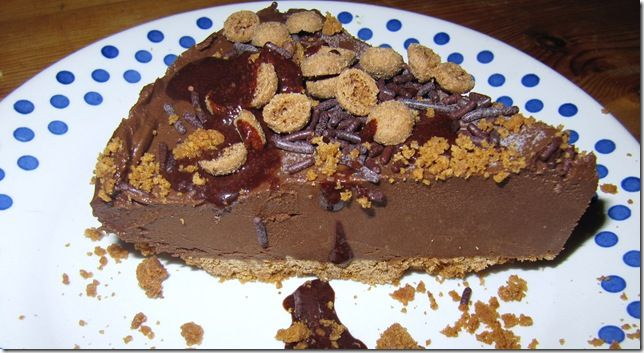 Gezonde Chocolade Mousse Speculaas Taart