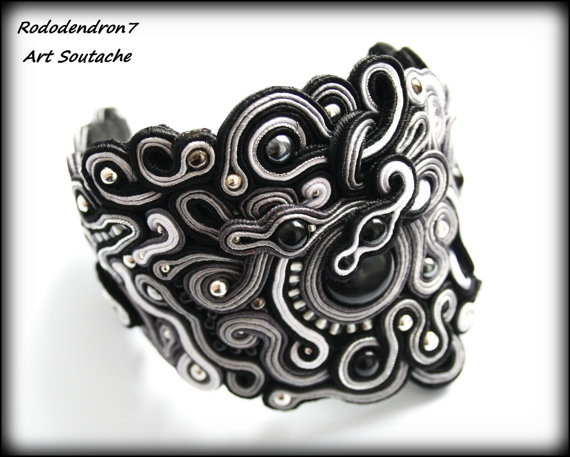Soutache bracelet unusual and very elegant by rododendron7 on Etsy