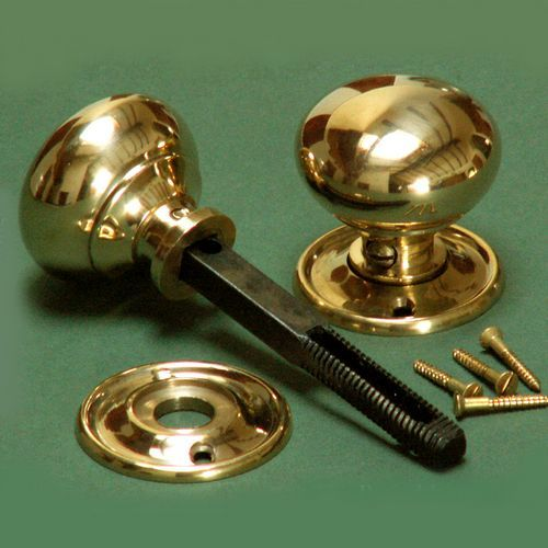 Small Brass Cottage Knobs £16.95 - Door Hardware - Door Knobs - Metal Victorian/Edwardian 1837-1910