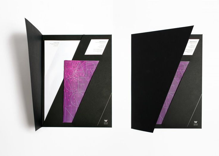 W Hotels Pocket Folder Sales Kit